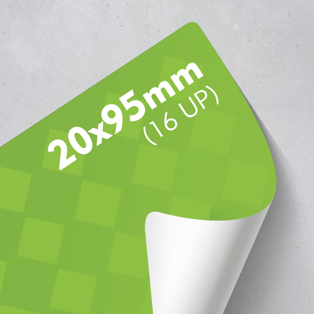 Picture of Labels 20 x 95mm - 16 UP