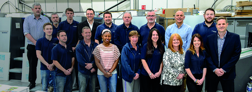 The familly team at Whitehall Printing