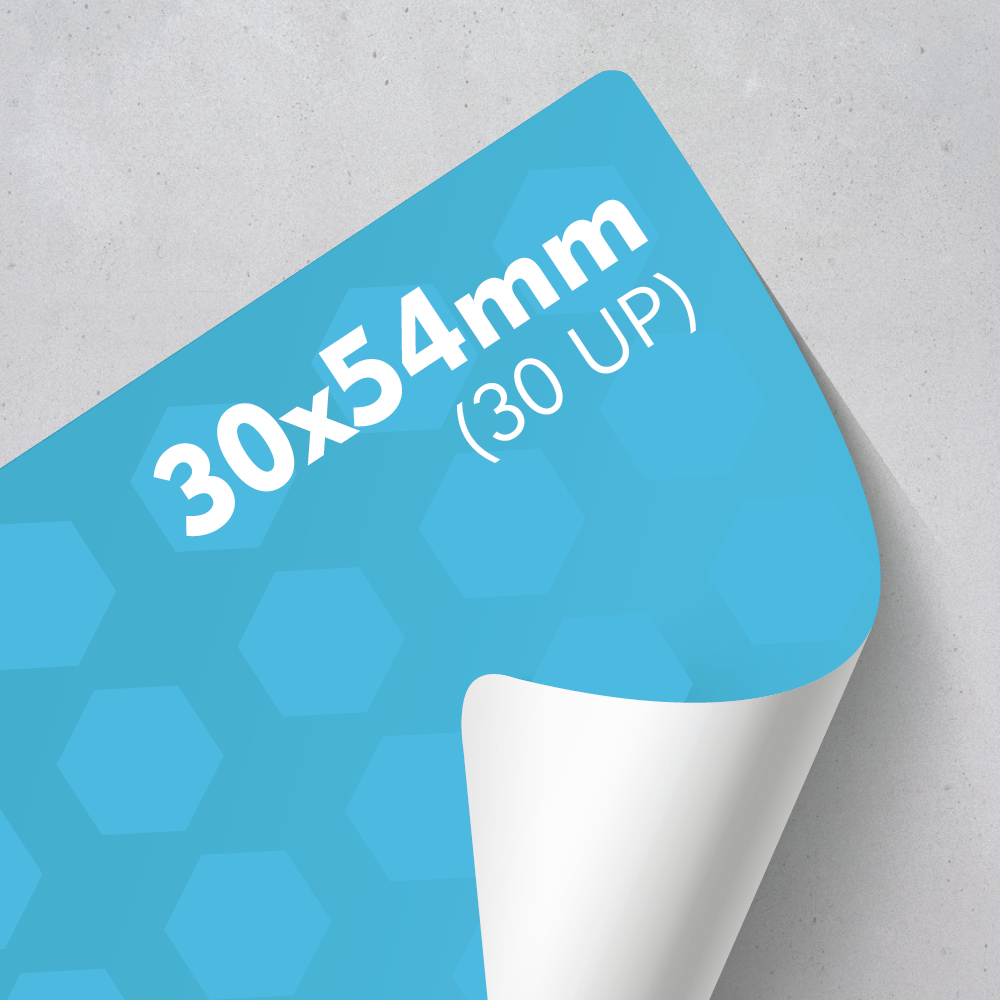 Picture of Labels 30 x 54mm - 30 UP