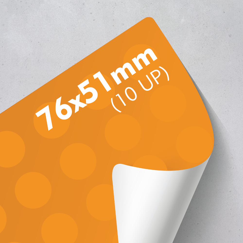 Picture of Labels 76 x 51mm - 10 UP