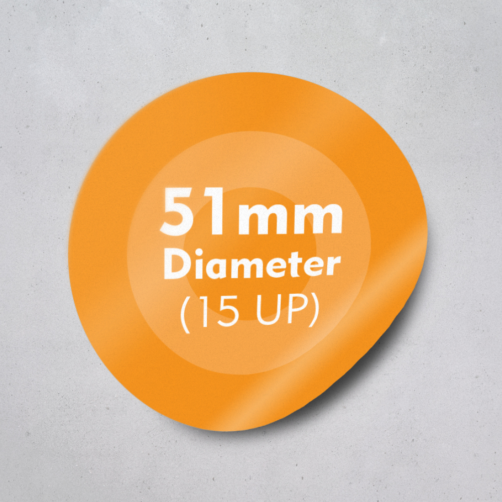 Picture of Labels 51mm dia - 15 UP