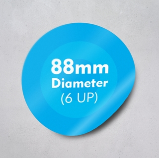 Picture of Labels 88mm dia - 6 UP