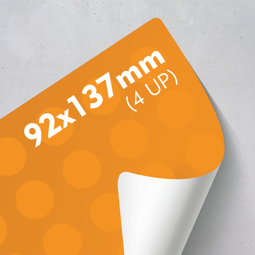 Picture of Labels 92 x 137mm - 4 UP